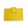 Fendi Yellow Saffiano Leather Card Holder