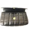 Chanel Black Chocolate Bar Leather Mini Flap Handbag