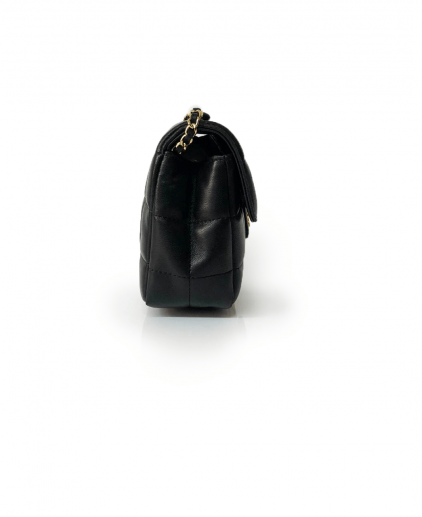 Chanel Black Chocolate Bar Leather Mini Flap Handbag