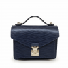 Louis Vuitton Blue Noir Epi Leather Monceau Handbag
