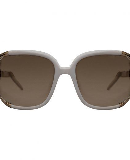 Roberto Cavalli White Brown Gradient Talisia 370S Oversized Sunglasses