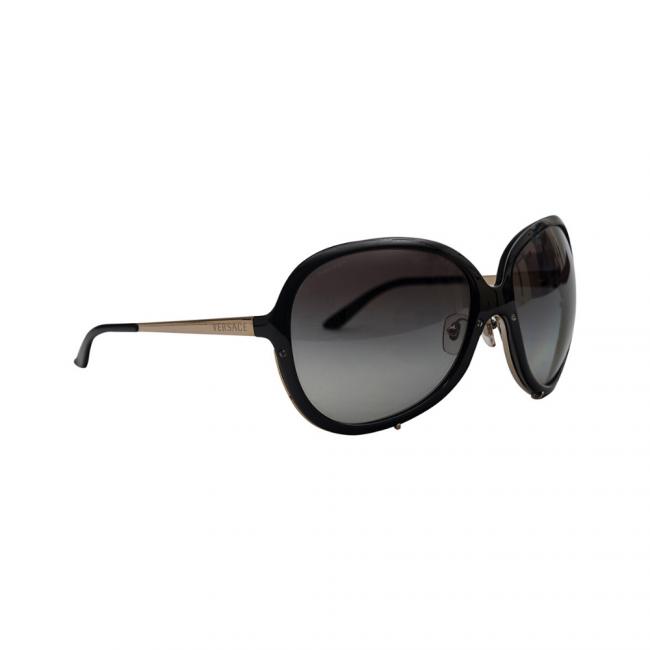 Versace MOD 4157 Black Oversized Women's Sunglasses