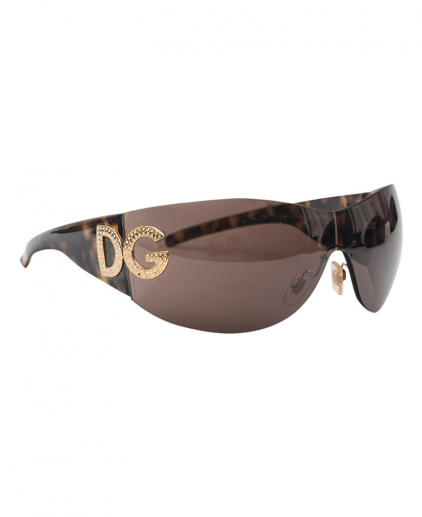 Dolce and Gabbana DG 6036 50273 Dark Brown Shield Women's Sunglasses
