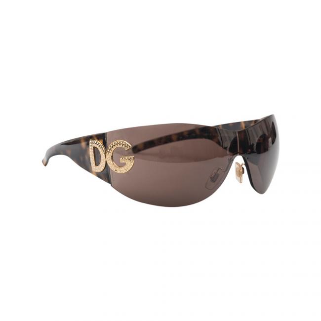Dolce and Gabbana DG 6036 50273 Dark Brown Shield Women's Sunglasses