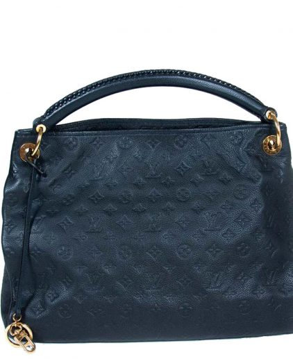 Louis Vuitton Navy Blue Monogram Empreinte Leather Artsy MM Bag