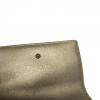 Dior Champagne Metallic Leather Diorama Elancee Flap Wallet