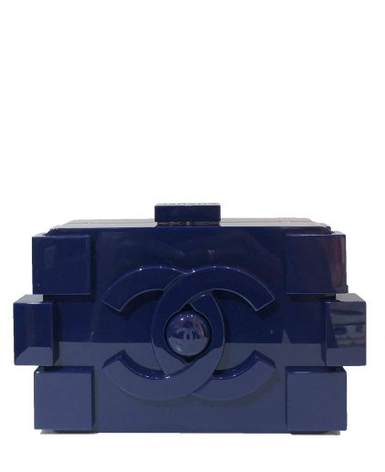Chanel Limited Edition Blue Plexiglass Boy Brick Lego Clutch