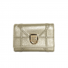 Dior Champagne Metallic Leather Diorama Elancee Flap Wallet