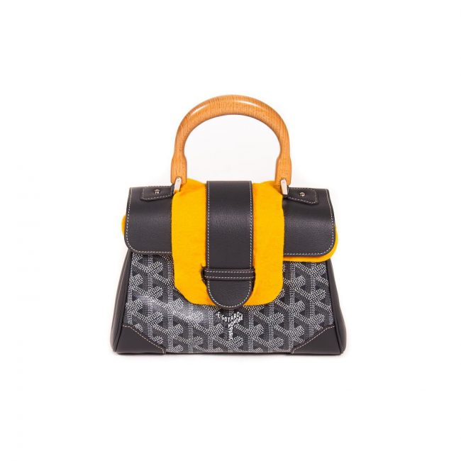 Goyard Grey Coated Canvas Leather Saigon Top handle Handbag