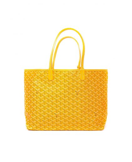 Goyard Yellow Reversible Goyardine Coated Canvas Saint Louis PM Tote