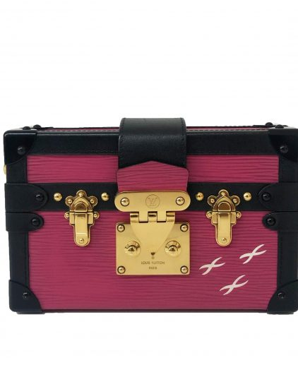 Louis Vuitton Fuchsia Epi Leather Petite Malle Bag