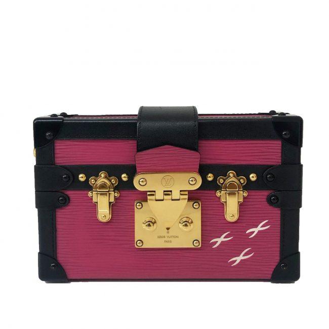 Louis Vuitton Fuchsia Epi Leather Petite Malle Bag