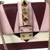 Valentino Multicolor Leather Mini Rockstud 1975 Lock Chain Shoulder Bag