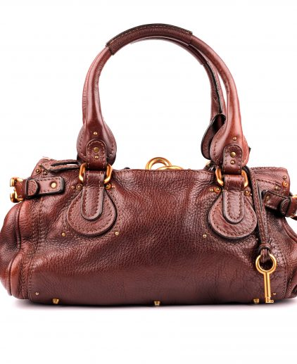 Chloe Brown Leather Paddington Satchel
