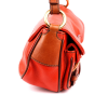 Prada Orange Leather Shoulder Handbag