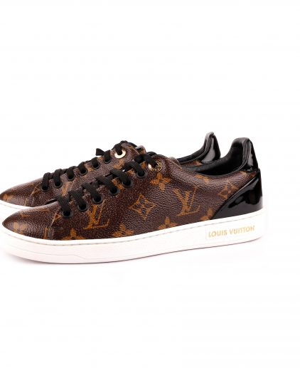 Louis Vuitton Monogram Canvas Leather Trim Frontrow Sneakers Size 36