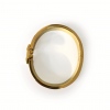 Hermes Clic Clac H Orange Enamel Gold Plated Narrow Bracelet