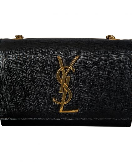 Saint Laurent Black Leather Small Monogram Kate Shoulder Bag