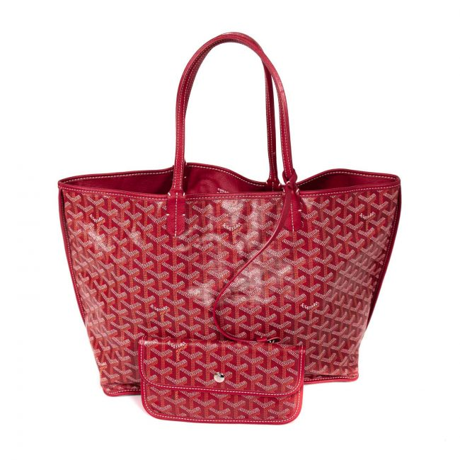 Goyard Red Coated Canvas St. Louis Tote Handbag