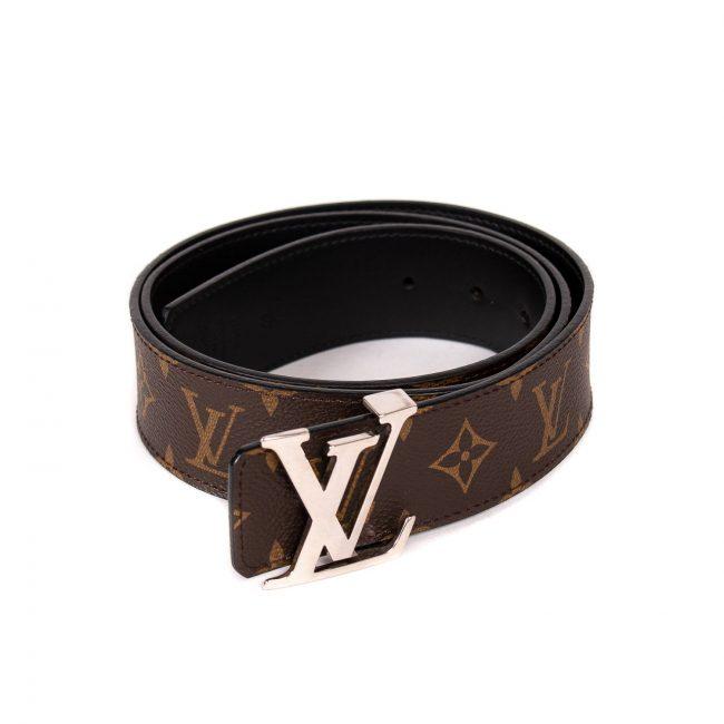 Louis Vuitton Monogram Canvas Initials Belt 95Cm