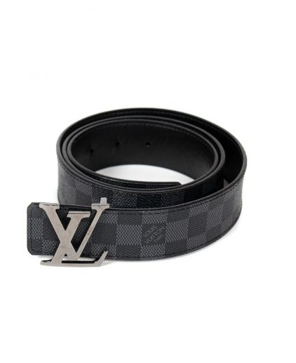 Louis Vuitton Damier Ebene Graphite Canvas Initials Belt 115Cm