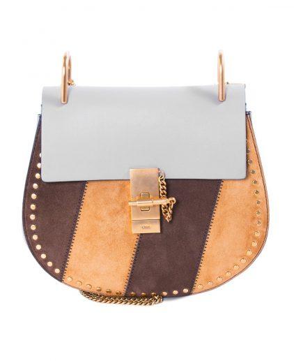 Chloe Multicolor Leather Suede Small Drew Shoulder Bag