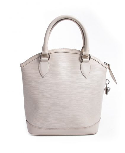 Louis Vuitton Ivory White Epi Leather Lockit Vertical Bag