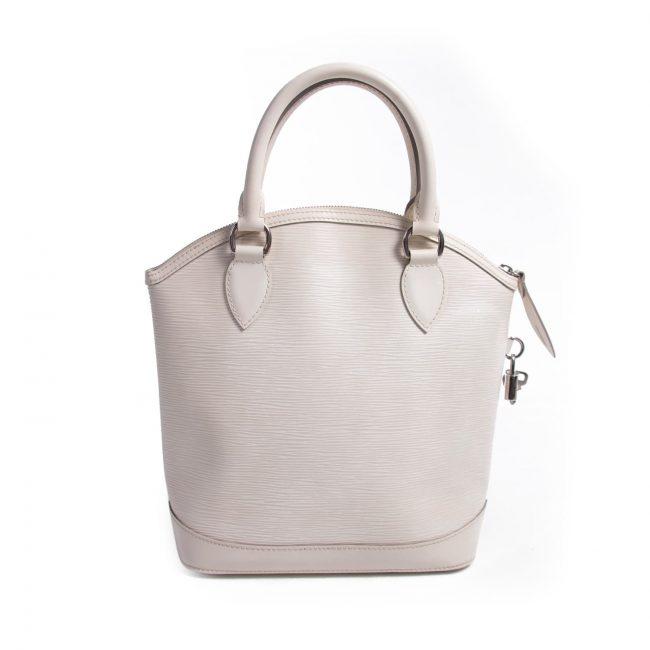 Louis Vuitton Ivory White Epi Leather Lockit Vertical Bag