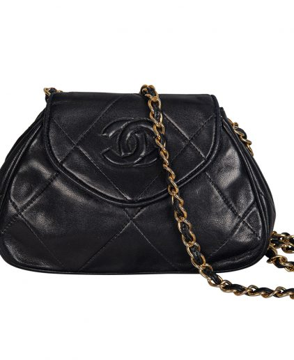Chanel Black Quilted Calfskin Leather Shoulder Bag