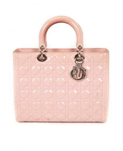 Dior Pink Cannage Leather Lady Dior Bag