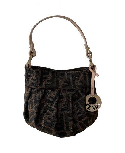 Fendi Vintage Brown Zucca Mini Bucket Handbag