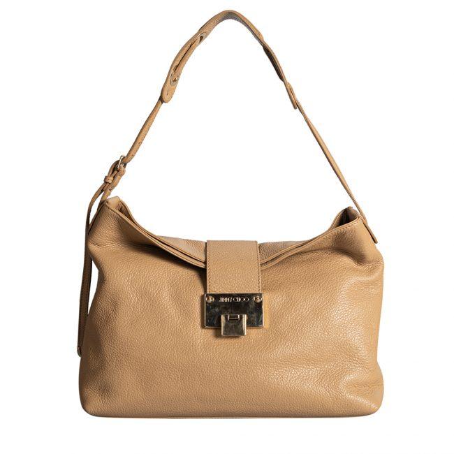 Jimmy Choo Beige Shoulder Bag