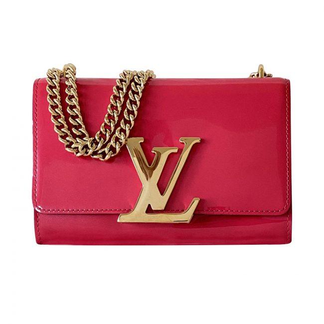 Louis Vuitton Pink Patent Leather Louise MM Handbag