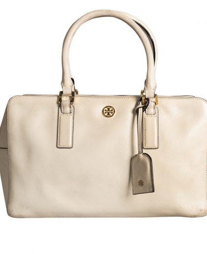 Tory Burch White Leather Handbag