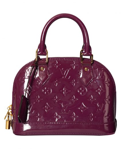 Louis Vuitton Pomme D'amour Monogram Vernis Alma BB Handbag