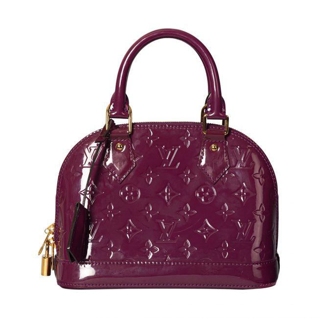 Louis Vuitton Pomme D'amour Monogram Vernis Alma BB Handbag