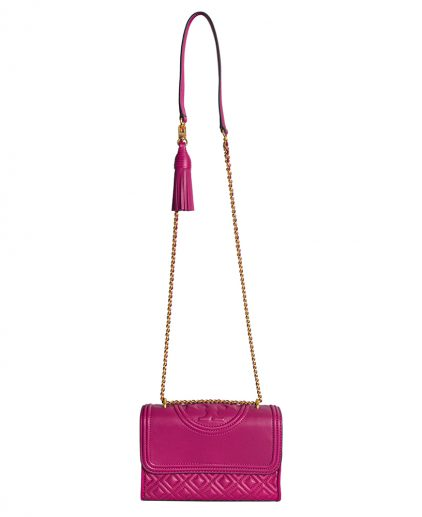 Tory Burch Pink Leather Fleming Shoulder Bag