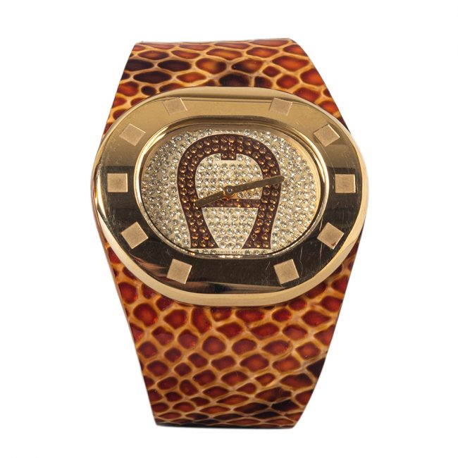 Aigner Gold Tone Ravello Due A21000 Womens Wristwatch