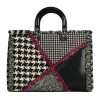 Dior Limited Edition Multicolor Leather Fabric Large Lady Dior Tote