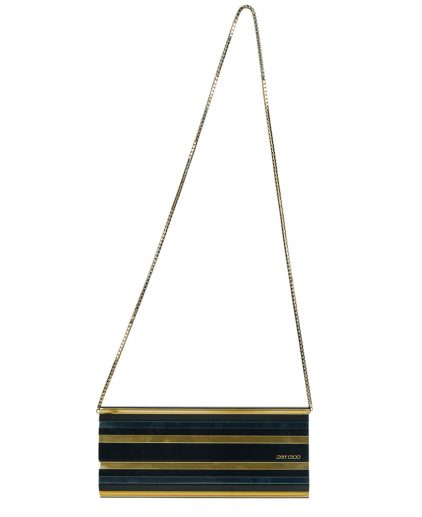 Jimmy Choo Multicolour Striped Acrylic Sweetie Chain Clutch