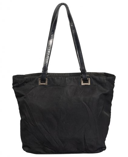 Prada Black Fabric Leather Shoulder Bag