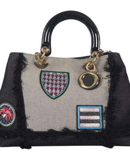 Christian Dior Blue Denim Dior D Light Tote Bag
