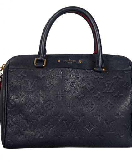 Louis Vuitton Blue Monogram Empreinte Bandouliere Speedy 25