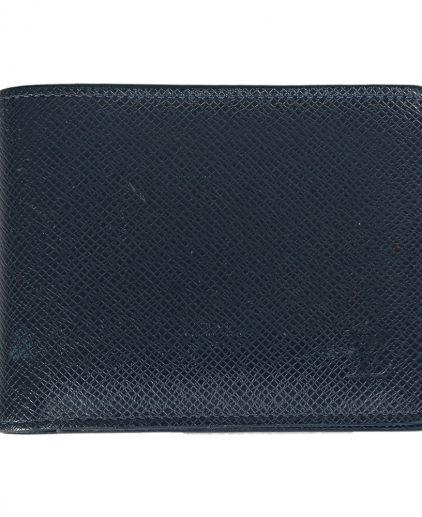 Louis Vuitton Blue Taiga Leather Multiple Wallet