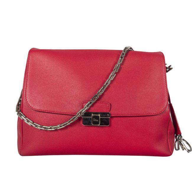 Dior Red Leather Large Diorling Shoulder Bag