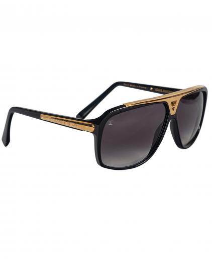 Louis Vuitton Black Gold Z0350W Evidence Square Sunglasses