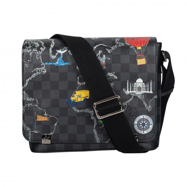 Louis Vuitton Damier Graphite Canvas World Map District Messenger Bag