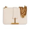Tom Ford White Leather Tara Chain Shoulder Bag