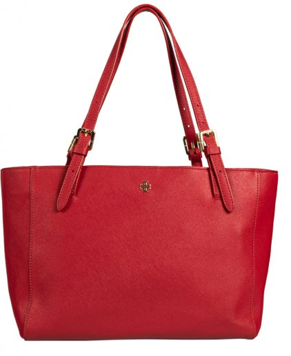Tory Burch Red Leather York Buckle Tote